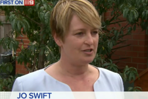 Jo Swift on Channel Nine