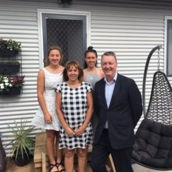 Minister Martin Foley and Noraine family
