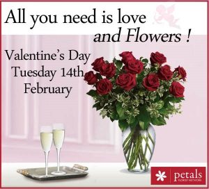 Valentines Day Flowers for Charity